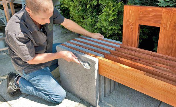 Beton-Gartenbank: Schritt 11 von 13