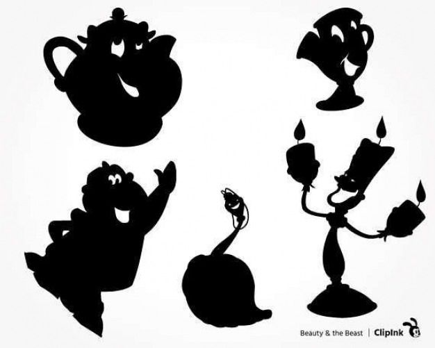 Tea Set Clipart Beauty And The Beast 14 570 X 456 Dumielauxepices Net 70thbirt Beauty And The Beast Silhouette Beauty And The Beast Svg Disney Silhouettes