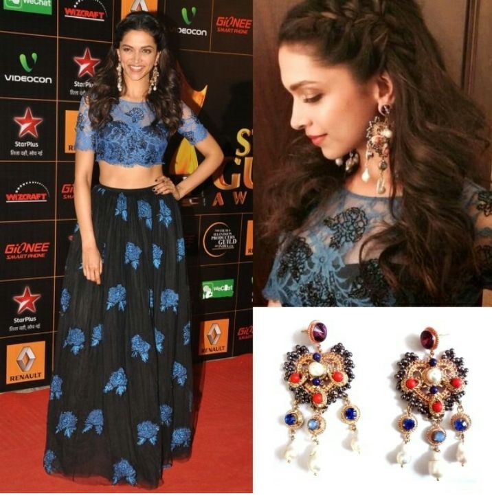 Deepika Padukone in #ShehlaKhan & #OutHouse at Star Guild Awards 2014