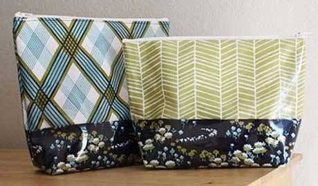 Free Bag Pattern And Tutorial Vinyl Zip Pouch Zipper