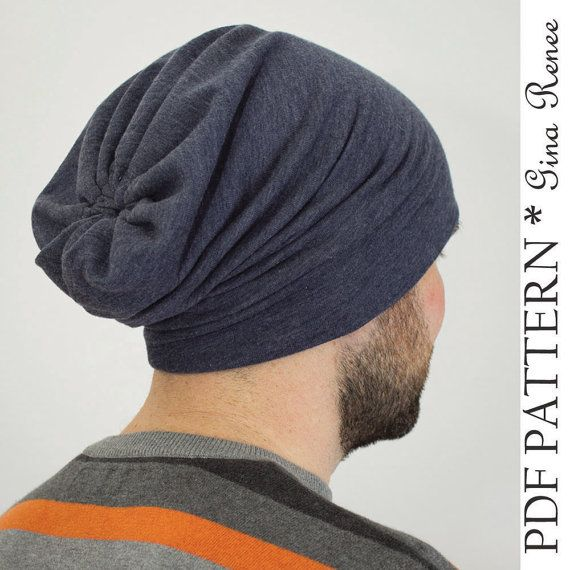 Perfect gift for the boyfriend! Sew an Oversized Slouchy Beanie for him with this pattern. Slouch beanie pattern, slouchie beanie sewing pattern by GinaReneeDesigns, $6.95