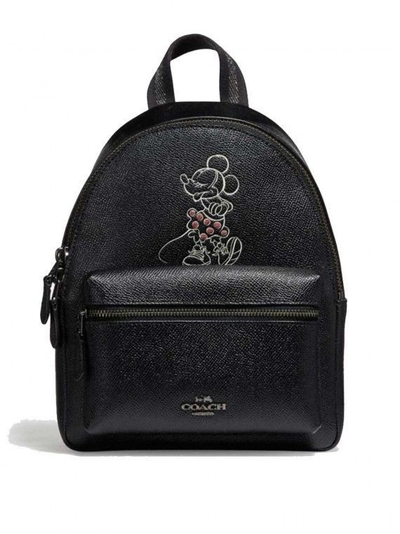 bed83e4bc4e NWT COACH F29353 Disney X Minnie Mouse Mini Charlie Leather Backpack ...