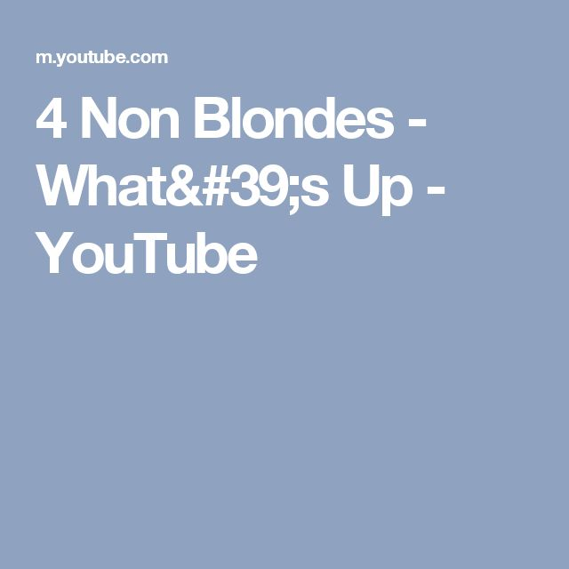 4 Non Blondes - What's Up - YouTube