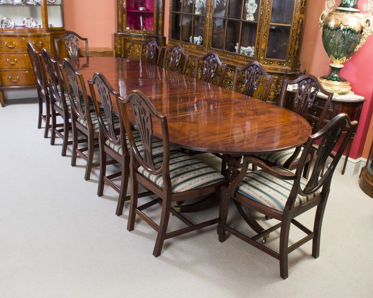 Antique Regency Dining Table Amp 12 Chairs C 1900 Dining