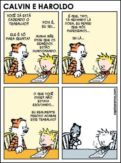O suposto último [e triste] quadrinho de Calvin e Haroldo por Bill Watterson