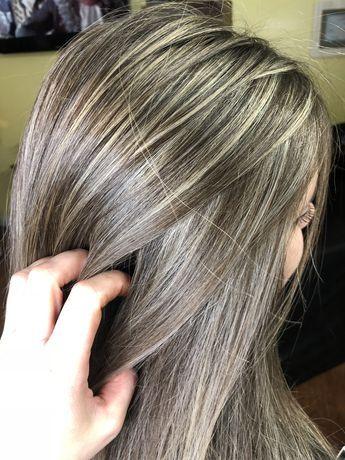 Full Highlights Plus Gray Blending Hair Color Tutorial ...