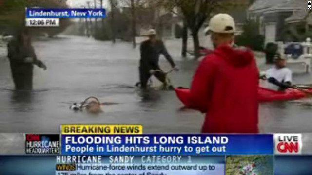 Un momento surreal durante las inundaciones de Sandy