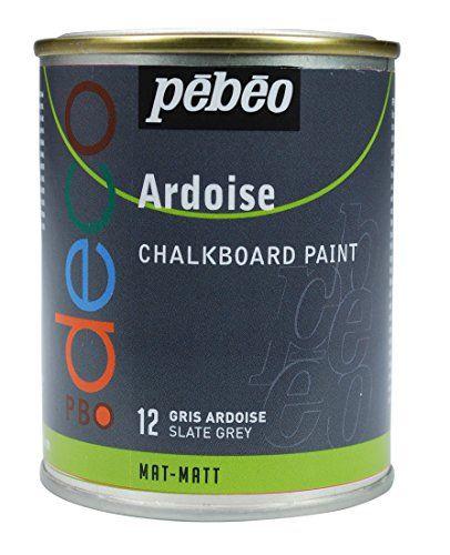 Pebeo 93512 Tafelfarbe 250 ml Metalldose, schiefergrau