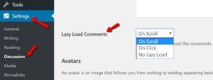 Lazy Load WordPress Comments