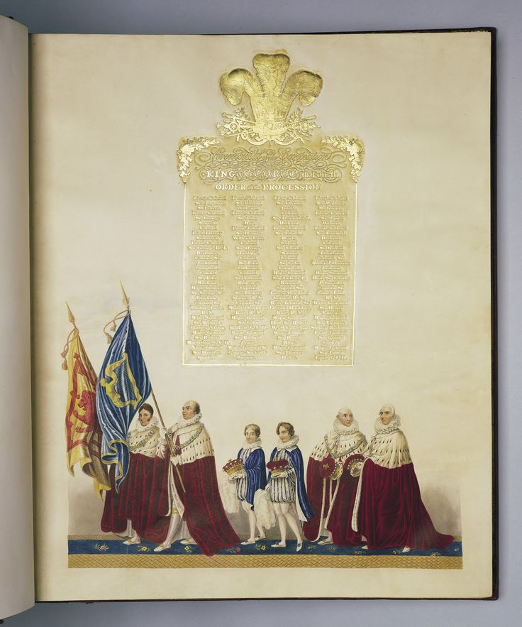 Ceremonial of the Coronation of His Most Sacred Majesty King George the Fourth | The Royal CollectionFourth, Coronation, King George, Ceremonies, George Iv, Majesty King, Sacred Majesty, Royal Object, Royal Collection