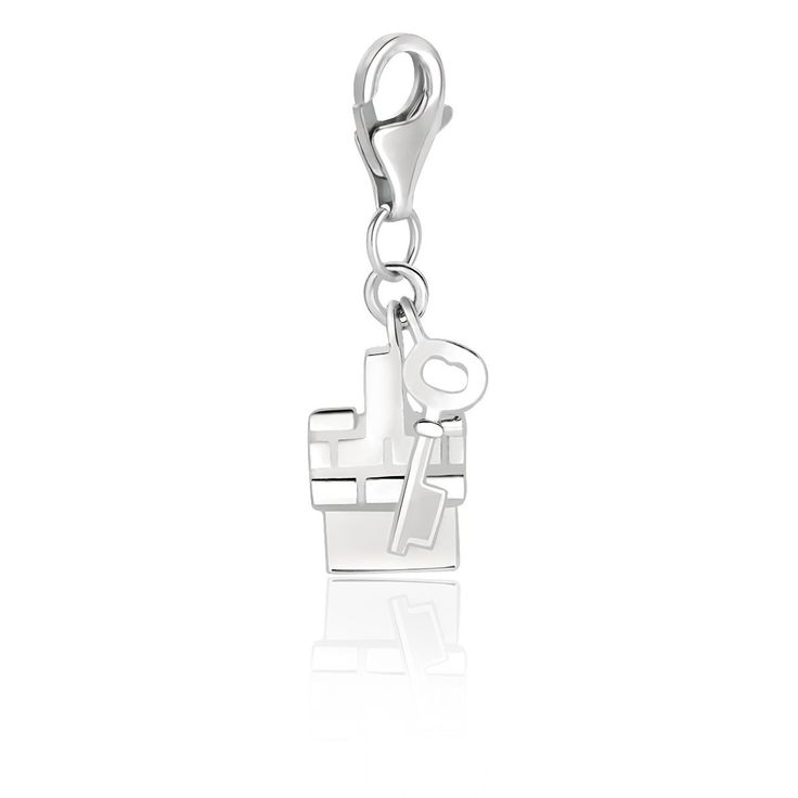 Sterling Silver 2 Piece House and Key Charm