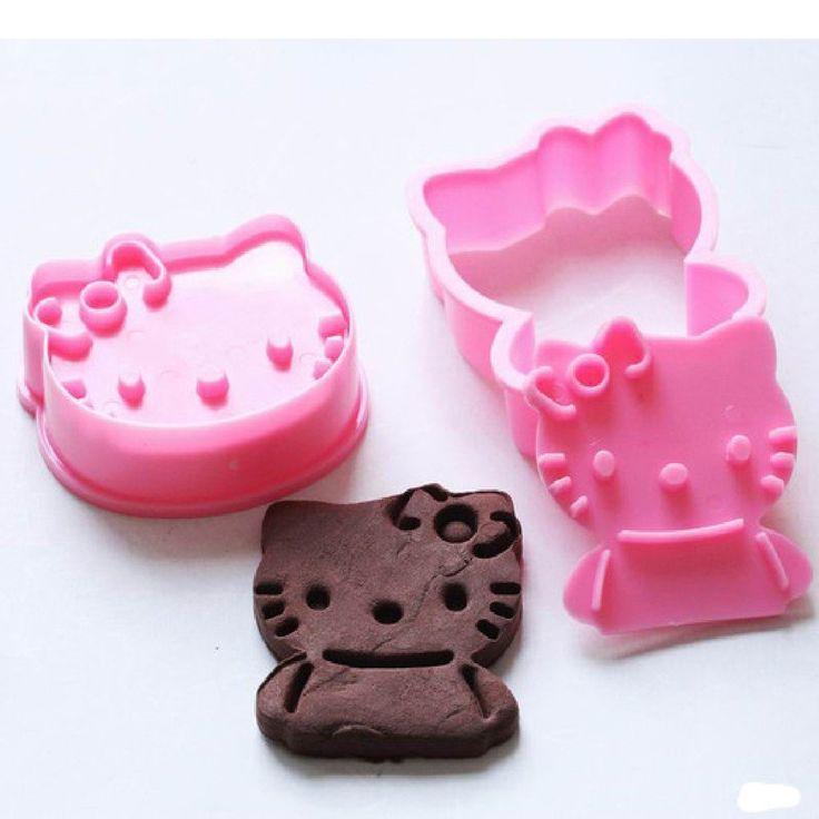 Für Frau Blöck! 2pcs / Set Hallo Kitty Form Fondant Kuchen Plätzchen Dekoration Sugarcraft Fondant Backwerkzeuge: Amazon.de: Küche & Haushalt