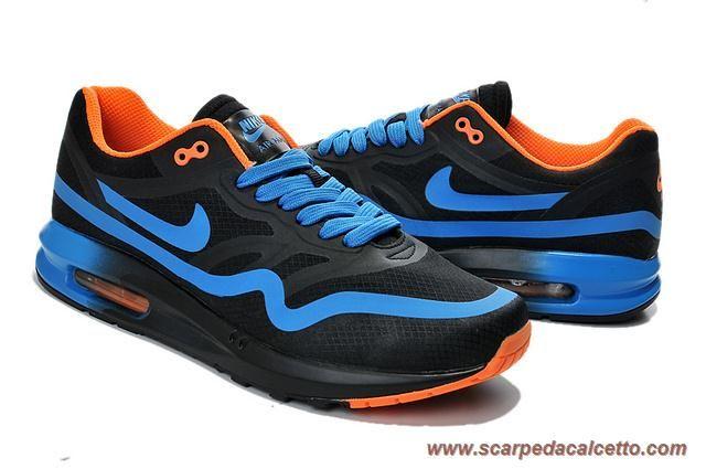 652989-301 Nero Blu Arancione Nike Air Max 87 Uomo scarpe da calcio online