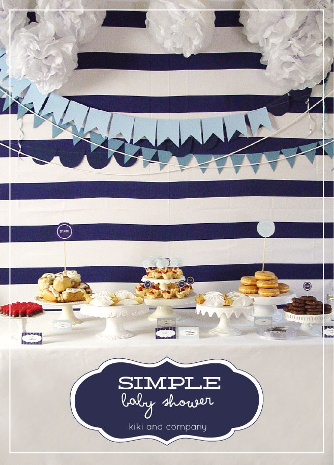simple boy baby shower. @Emily Mills