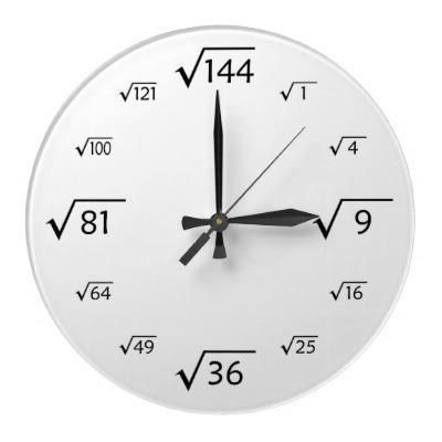 Relógio Raízes Quadradas