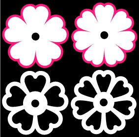 Flowers 4:  free digital Silhouette Cut files