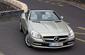 Mercedes-Benz SLK 250 BlueEFFICIENCY (R 172) – Frontansicht (2), 11. März 2011, Teneriffa.jpg