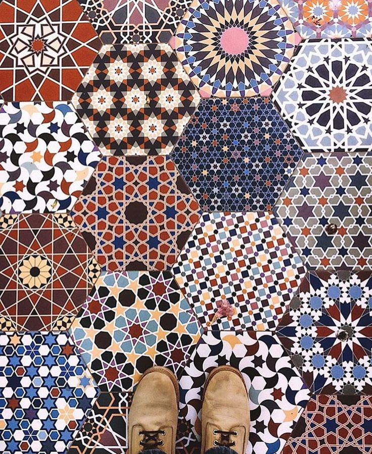 """17.7k Likes, 43 Comments - I Have This Thing With Floors (@ihavethisthingwithfloors) on Instagram: """"So many patterns!  Photo by @effneck #ihavethisthingwithfloors #patterns #tiles #floor #colours…"""""""