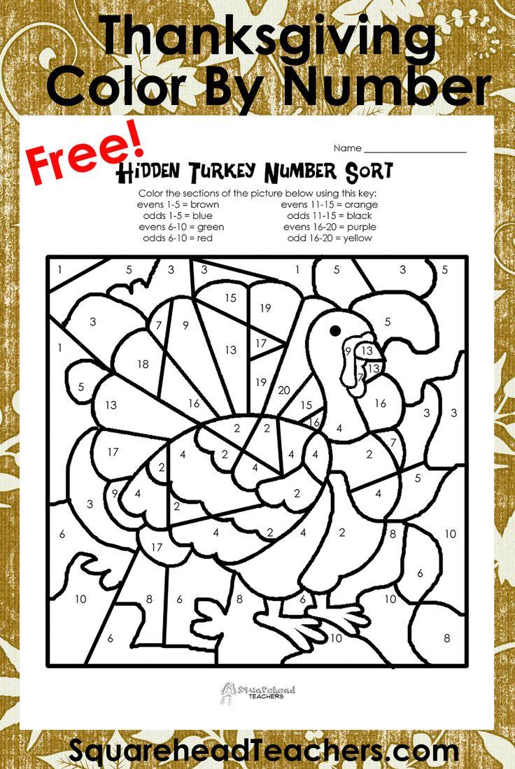 Odd/Even Turkeys (Free worksheet!) Squarehead Teachers