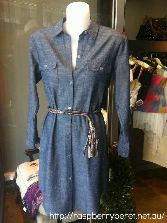 Instore Now:  Bigeni Basics by Gary Bigeni Toni Shirt dress. 100% cotton Chambray www.raspberryberet.net.au #garybigeni #bigenibasics
