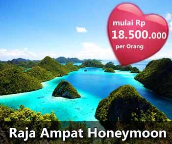 Honeymoon Package at Raja Ampat, one of the most romantic places in Indonesia :) This package is available until December 2012. Contact +62 21 231 6306 for more information