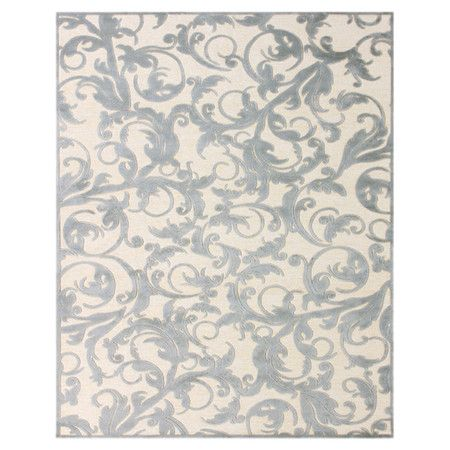 art silk rug with a scrolling vine motif product material art silkcolor