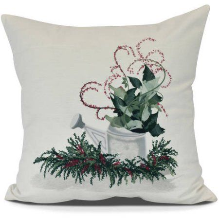 Christmas Cactus Floral Print Outdoor Pillow Size 16 Inch X 16 Inch Purple Christmas Cactus Square Throw Pillow Throw Pillows