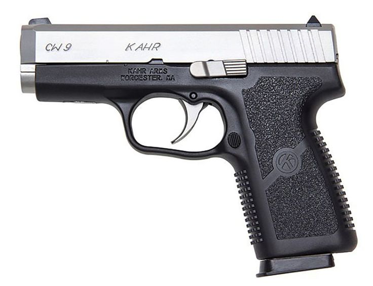 Kahr Arms specializes in compact and mid-size semi-automatic pistols chambered for popular cartridges, including .380 ACP, 9 mm Luger Parabellum, .40 S$W and .45 ACP. Kahr pistols feature polymer or stainless steel frames, single-stack magazines, and double-action-only striker firing actions. The Kahr CW9 9mm pistol features a black polymer frame, matte stainless steel slide and standard fixed sights retails for less than $400.