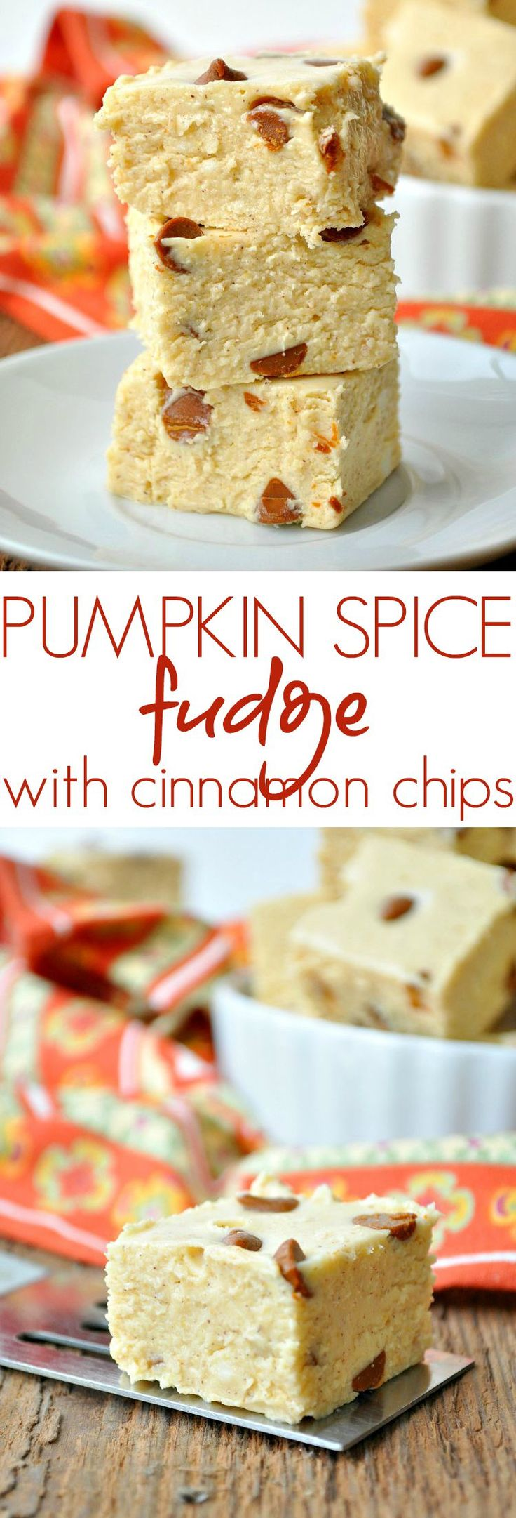 This PUMPKIN SPICE FUDGE is made in the microwave for an easy fudge recipe that your family and friends will devour. It's a perfect holiday dessert!