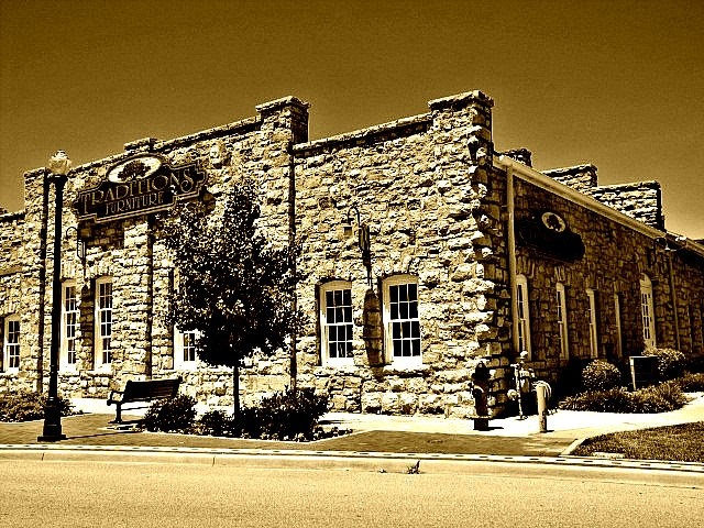 ... As Other Johnson County Trolleys Were Housed In This Stone Building In  Old Downtown Overland Park, Kansas. The Building Has Housed A Furniture  Store For ...