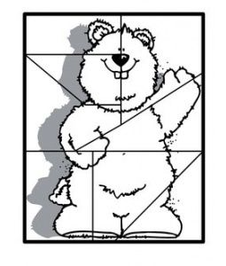 Groundhog Day Color and Cut Puzzle - -  Pinned by @PediaStaff – Please Visit http://ht.ly/63sNt for all our pediatric therapy pins