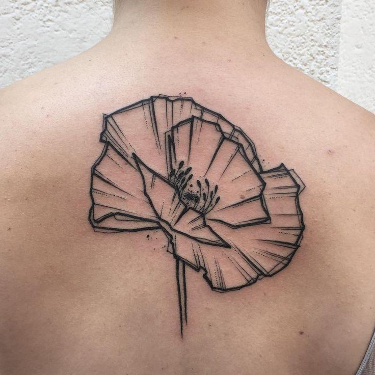 Minimal Poppy. @bsatattoo #ink #inked #tattoo #tattoos #tattooed #tattrx #btattooing #blackwork #dot #draw #drawing #equilattera #blackandwhite #blackworkers #iblackwork #dotwork #blxckink #sketch  #vsco #vscocam #darkartists #black #illustration #art #graphic #artoftheday #minimal #poppy #flower