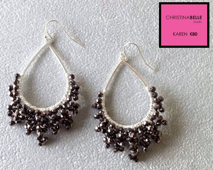 Dazzling.  Karen Earrings €80.  ChristinaBelle.  0868260001