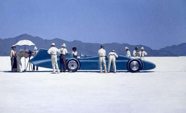 Bluebird at Bonneville by British Contemporary Artist Jack Vettriano
