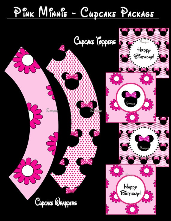 Minnie Mouse Cupcake Package  Standard by ZDesignsbyRosina on Etsy, $3.50