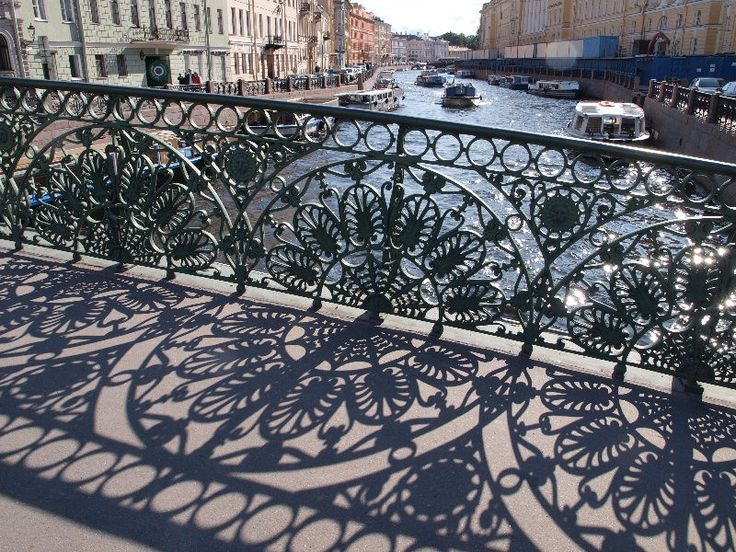 Russia. One of the Saint Petersburg bridges over canals