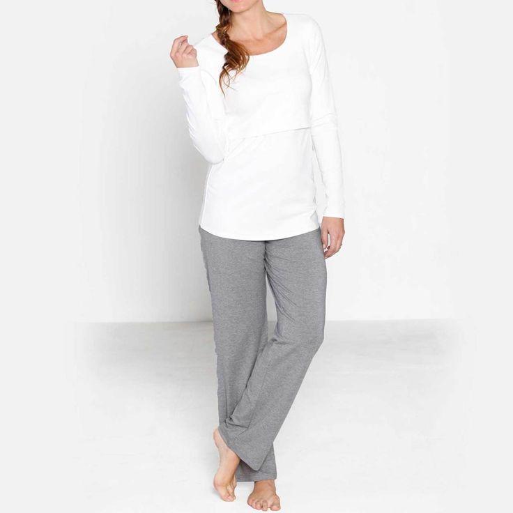 Angel Maternity Lounge Set - Buy Nursing Top + Pregnancy Lounge Pants