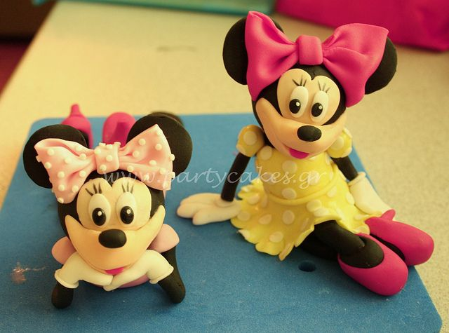 Minnie Mouse (Minnie Mice :)   )  All ready to go on a cake  by Party Cakes By Samantha, via Flickr