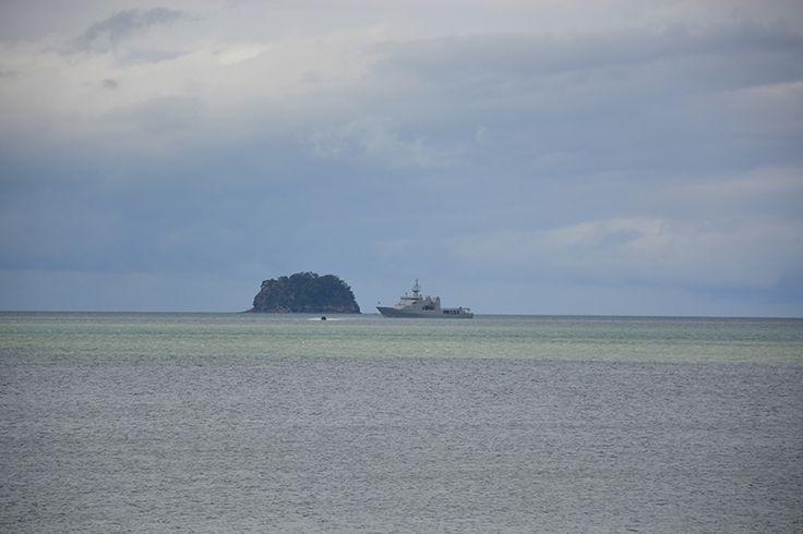 Two NZ Navy ships tomorrow in Mercury Bay