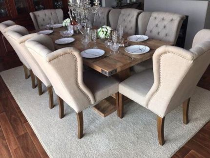 BRAND NEW SOLID HARDWOOD RECTANGLE 8 - 10 SEATER DINING TABLE SUITE | Dining Tables | Gumtree Australia Kwinana Area - Casuarina | 1110988359