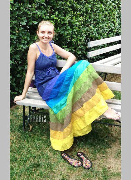 Платья ручной работы. Ярмарка Мастеров - ручная работа Платье цвета индиго. Handmade.