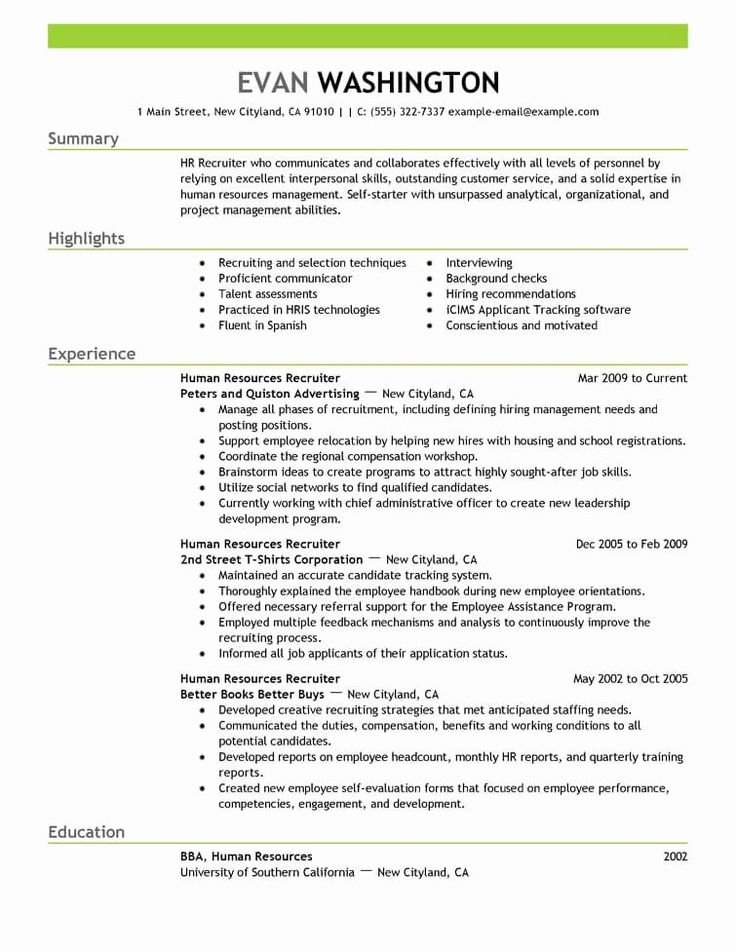 Resume Title Examples for Any Job New Best Recruiting and