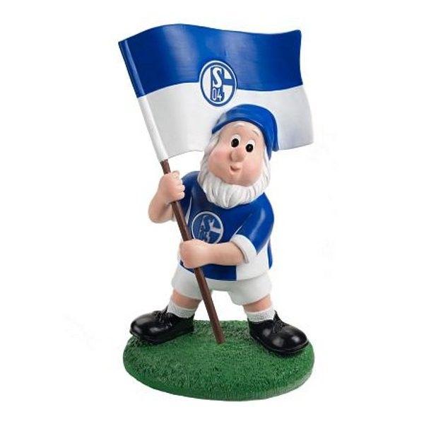 Gartenzwerg mit Fahne FC Schalke 04 - #Bundesliga, #Soccer, #Fanartikel, Fußball, #Garten, #Zwerg, #Sport