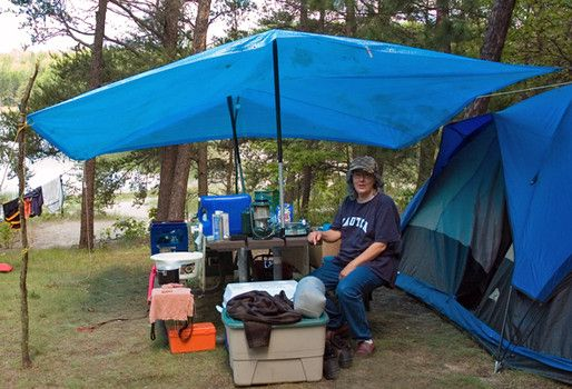 diy tent vestibule with tarp, sticks, poles | Tent Camping ...