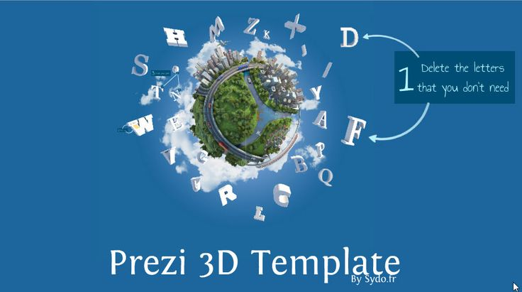 Amazing 3D reusable prezi template offered for free from sydo.fr