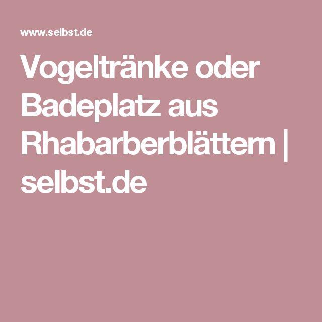 Vogeltränke oder Badeplatz aus Rhabarberblättern | selbst.de