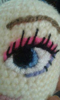 Resultado de imagen para ojos tejidos en crochet