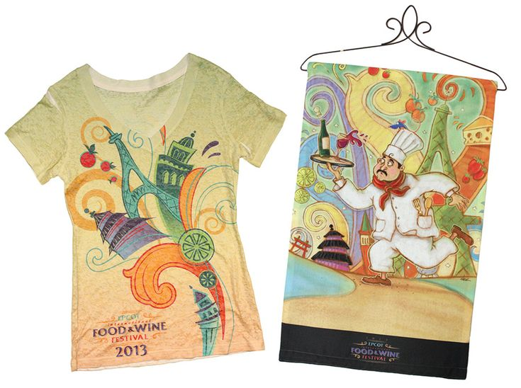 Epcot International Food & Wine Festival begins Sept. 27. Check out the festival-inspired merchandise #EpcotFoodFestival