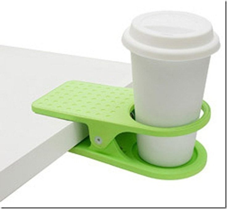 Clip on beverage holder...this could be so helpful