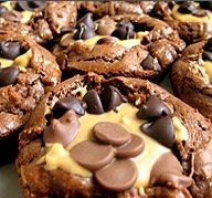 Lookie at my Cookies: Peanut Butter Cup Brownies   NOSH AND TELL
